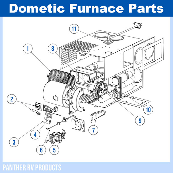 Dometic™ (Atwood) DFMD20 RV Mojave Propane Heater / Furnace - 20K Parts Breakdown