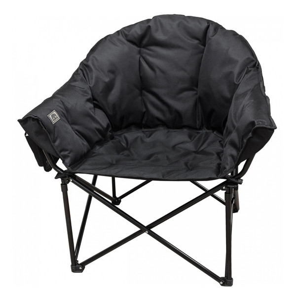 Kuma Outdoors 433-CB Lazy Bear Cushioned Camping Chair - Carbon Black