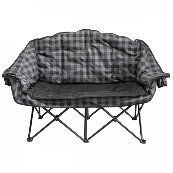 Kuma Outdoors 490-GPB Bear Buddy Cushioned Camping Chair - Grey/Black Plaid