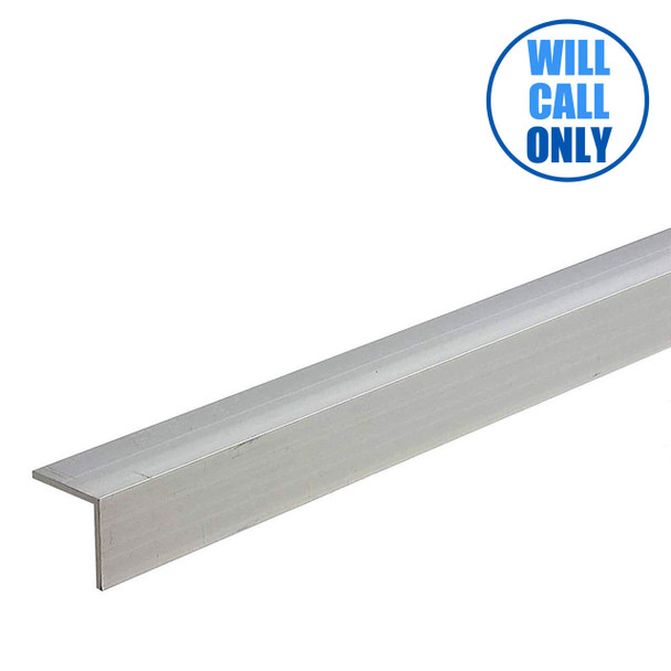 """Extruded Aluminum Trim Angle 3/4"""" x 3/4"""" x 16' - 0.062"""" Thick"""