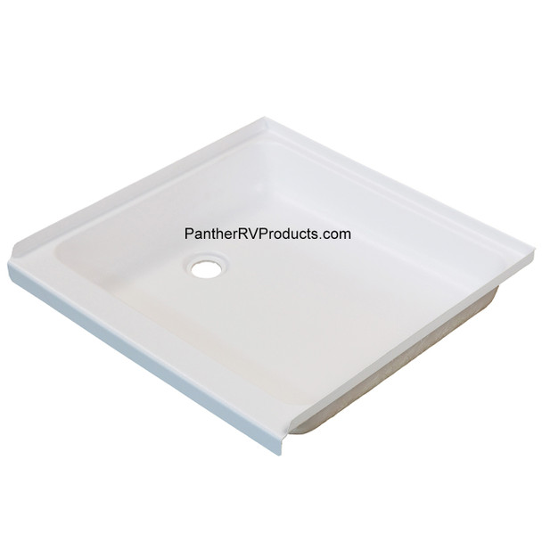 """Superior RV 2323SP 23"""" x 23"""" Shower Pan / Tray – Left Drain"""