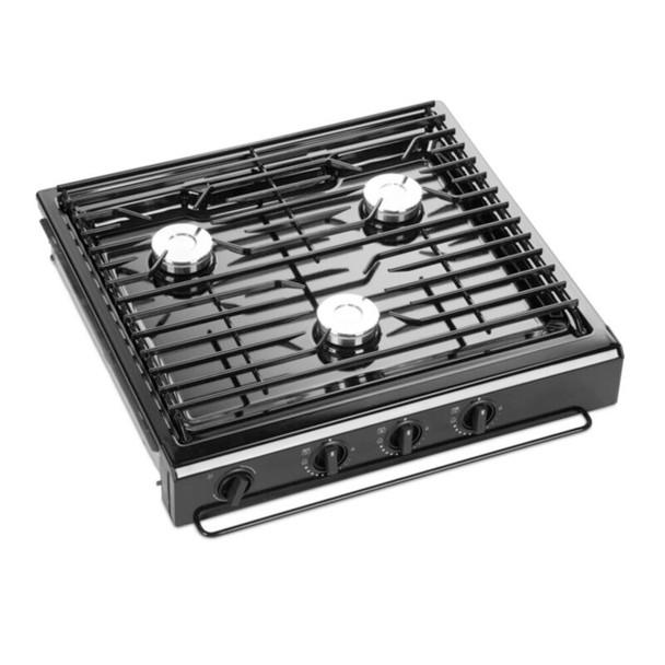 Dometic™ Atwood  50301 RV Kitchen 3-Burner Cooktop - Black