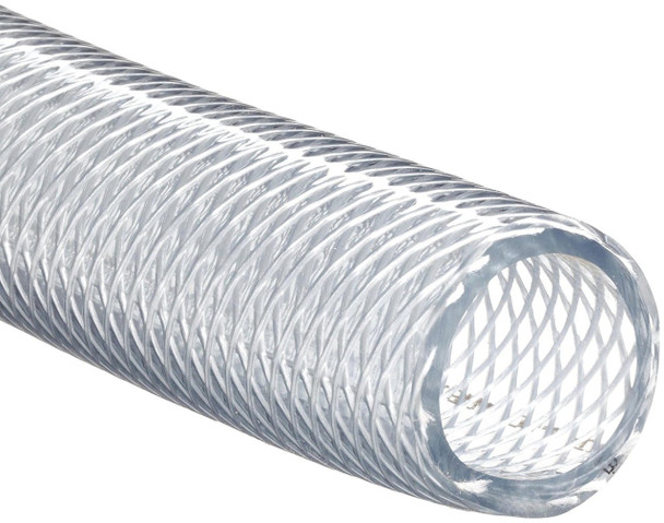 """Clear Braided Vinyl Tubing 1/2"""" - Sold by the foot"""