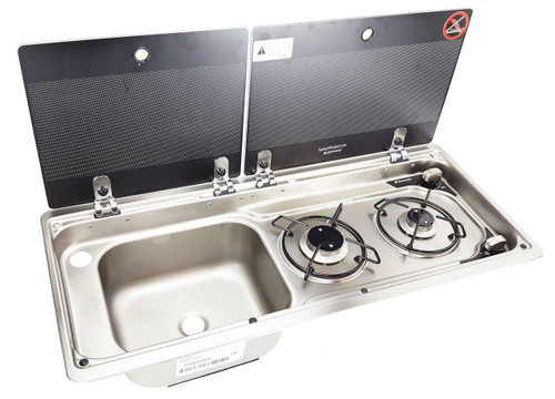 Dometic Mo9722r Slim 2 Burner Hob Sink Combination With