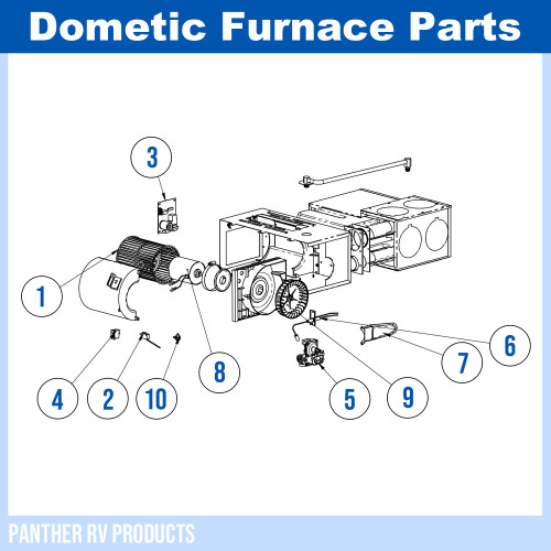 Dometic™ (Hydroflame) 8525-IV RV Propane Heater / Furnace - 25K Parts  BreakdownPanther RV Products