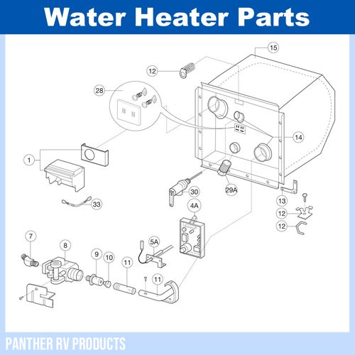 dometic™ atwood g6a-8e rv water heater parts breakdown  panther rv products