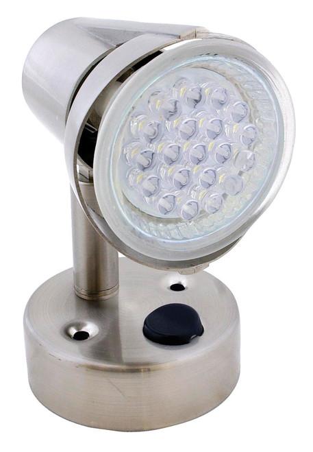 Eco 260067 Led Rv Reading Light Lamp Satin Chrome 155 Lumen