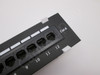 Cat6, Cat5E Vertical Wall-Mount Mini Patch Panel 12 Port