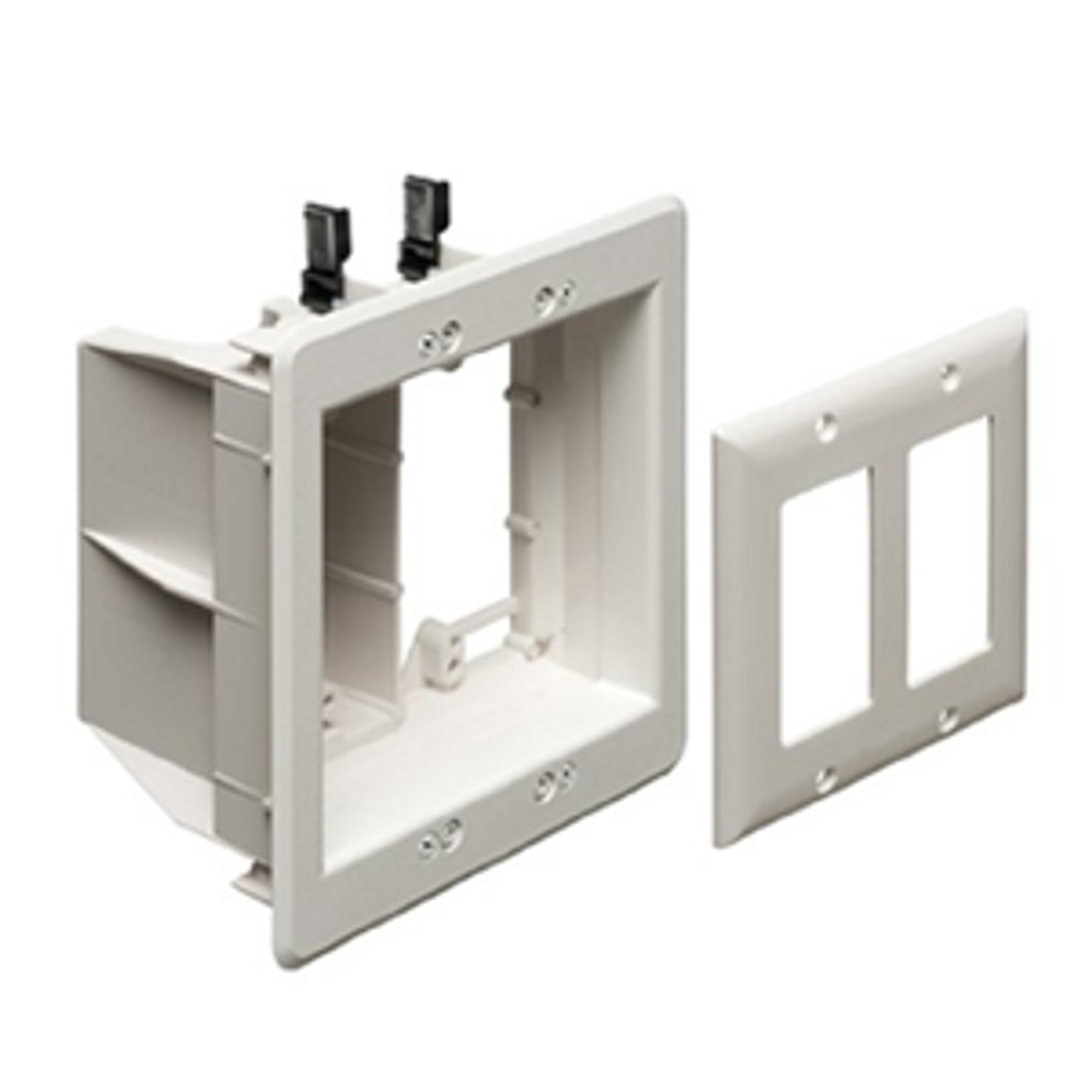 Recessed Electrical Box Wall Plate Power /& Low Voltage