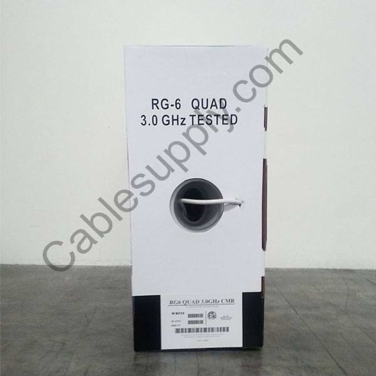 Black 500ft C2g 500ft Rg6//u Quad Shield In-wall Coaxial Cable