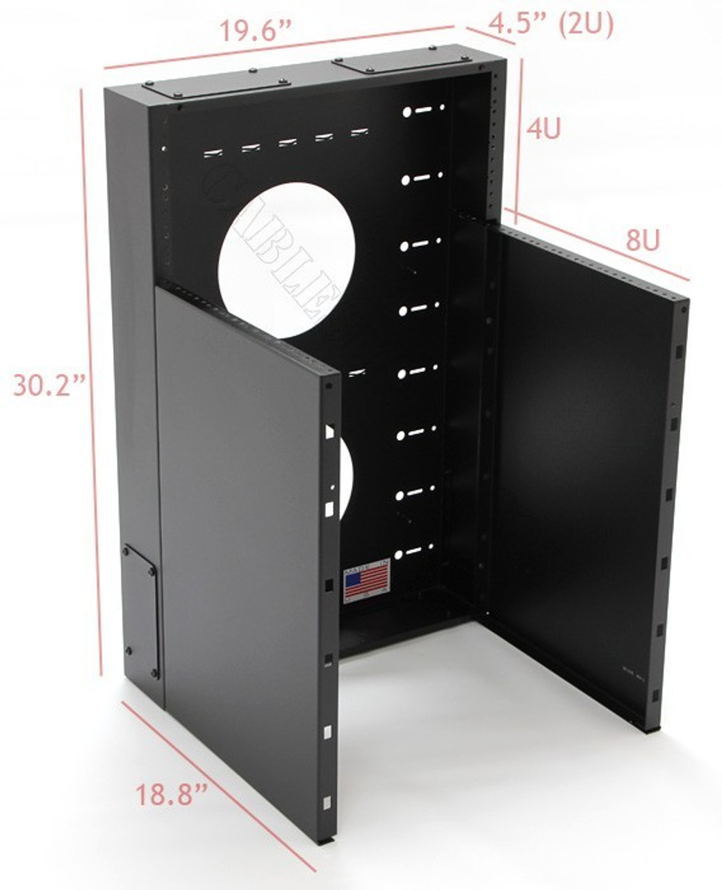 8U + 4U Vertical MiniRaQ Convertible - Compact by Black Hawk Labs  (MRQ351V10)