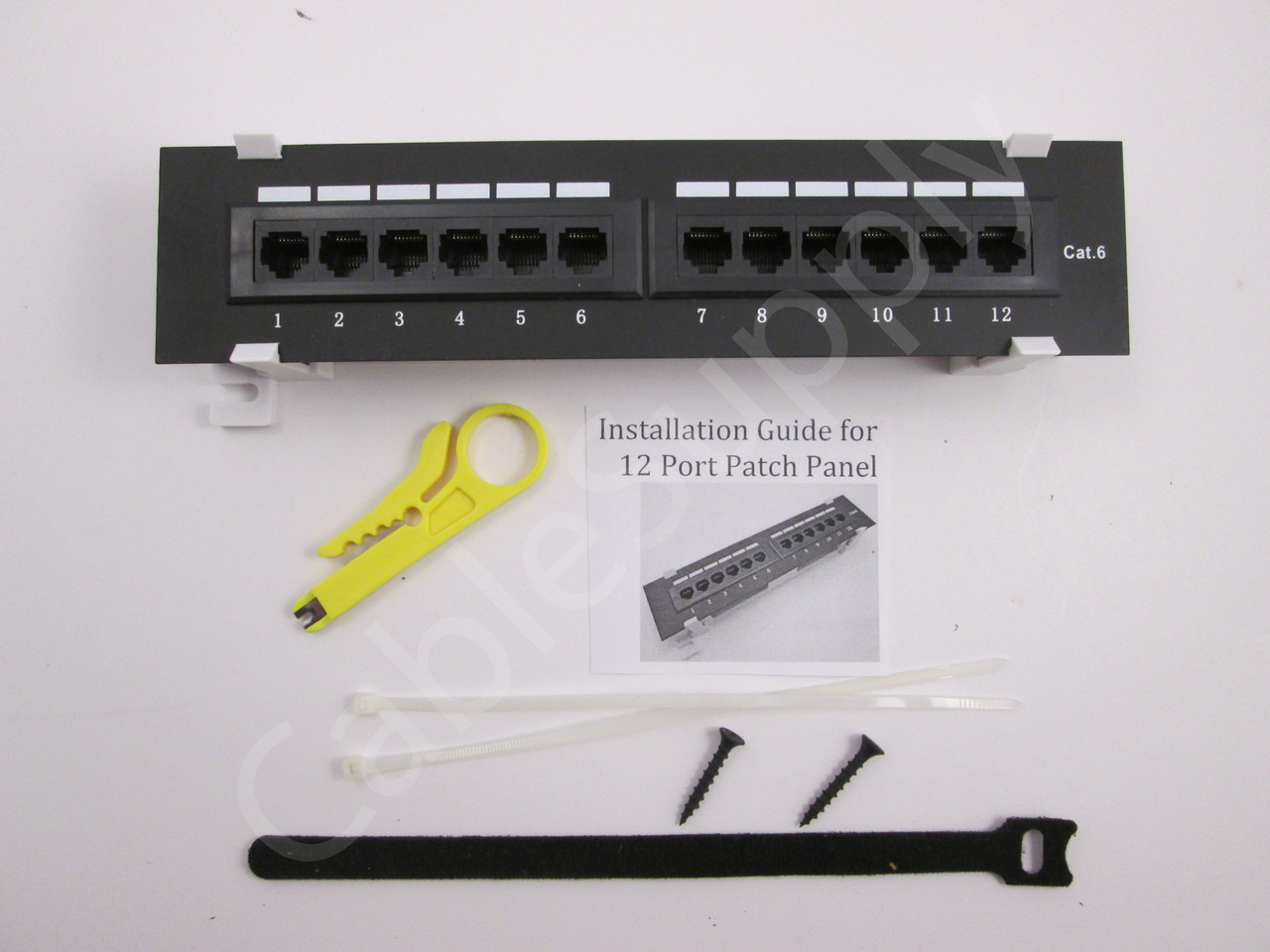 Cat6 Vertical Wall Mount Mini Patch Panel 12 Port Cablesupply Cat3 Keystone Jack Wiring Diagram