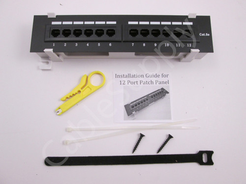 12 port Cat6 Patch Panel Wall Mount
