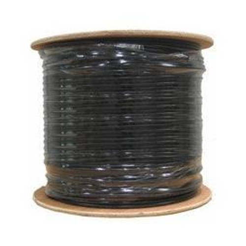Cat5e Outdoor Direct Burial Gel-Filled Bulk Cable 1000ft Black