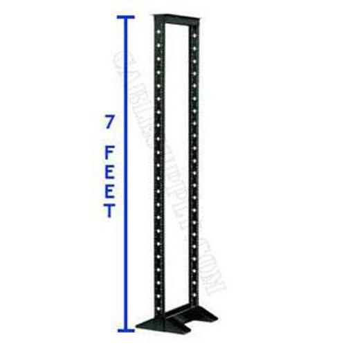 Relay Rack, 84 x 19 inches, 45U, Black Aluminum, Open Frame