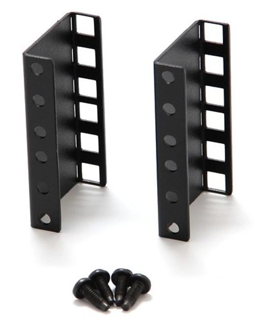 "Verticle 2U Single Sided Square Hole Riser Bracket Set (2U x 2"" Risers Bracket Set) for MiniRaQ"