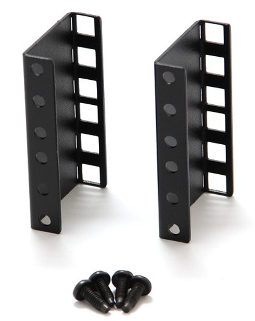 "Verticle 2U Single Sided Square Hole Riser Bracket Set (2U x 2"" Risers Bracket Set) for MiniRaQ"