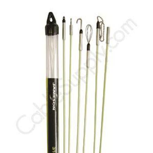 """Deluxe Fishing  Kit 3/16"""" x 30' (Six 3/16"""" X 5' Fishing Rods) Jameson 7S-65K 30ft Fish Kit"""