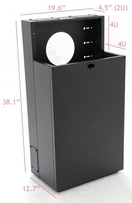 6U + 4U Vertical MiniRaQ Secure - Compact with Vented Bottom MRQ351S10