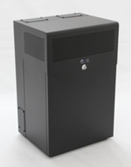 8U + 4U Vertical MiniRaQ Secure - Compact with Vented Bottom by Black Hawk Labs