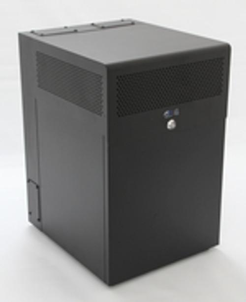 12U + 4U Vertical MiniRaQ Secure - Compact with Vented Bottom by Black Hawk Labs