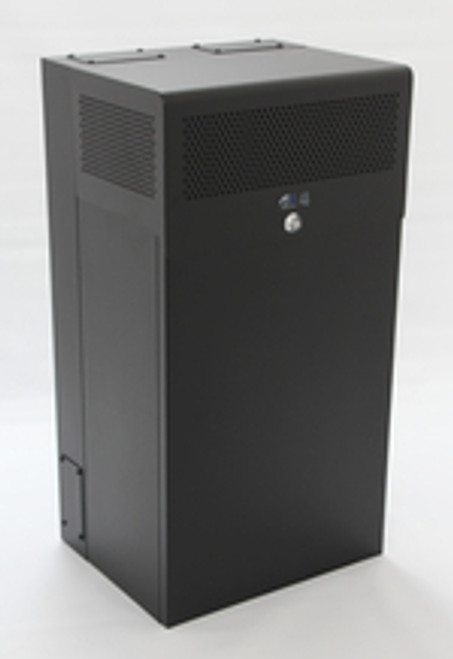8U + 4U Vertical MiniRaQ Secure - Tall with Vented Bottom By Black Hawk Labs