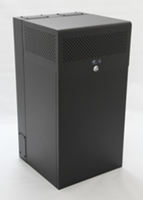 10U + 4U Vertical MiniRaQ Secure - Tall with Vented Bottom by Black Hawk Labs
