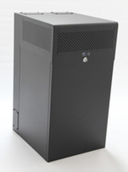 12U + 4U Vertical MiniRaQ Secure - Tall with Vented Bottom by Black Stone Labs