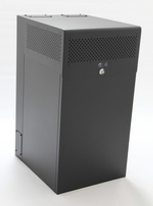 12U + 4U Vertical MiniRaQ Secure - Tall with Vented Bottom by Black Stone Labs