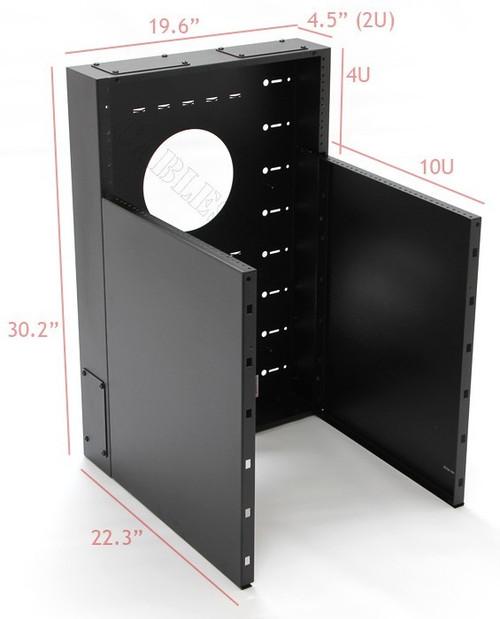 10U + 4U Vertical MiniRaQ Convertible - Compact by Black Hawk Labs (MRQ351V14)