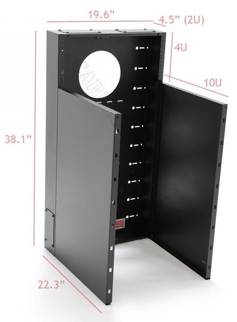10U + 4U Vertical MiniRaQ Convertible Tall by Black Hawk Labs