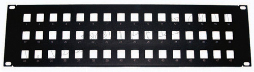 48 Port Unpopulated Keystone Panel Face Plate 3U