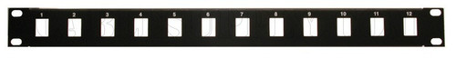1U 12 and 16 ports Unpopulated Keystone Panel Face Plate