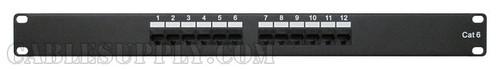 Cat6 Computer Patch Panel Rack-mount 12 Port 1U