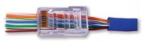 Cat6 EZ RJ45 Modular Plug by Platinum Tools (Box of 100)