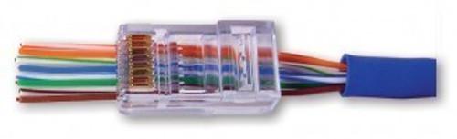 Cat6 EZ RJ45 Modular Plug by Platinum Tools (Box of 100)