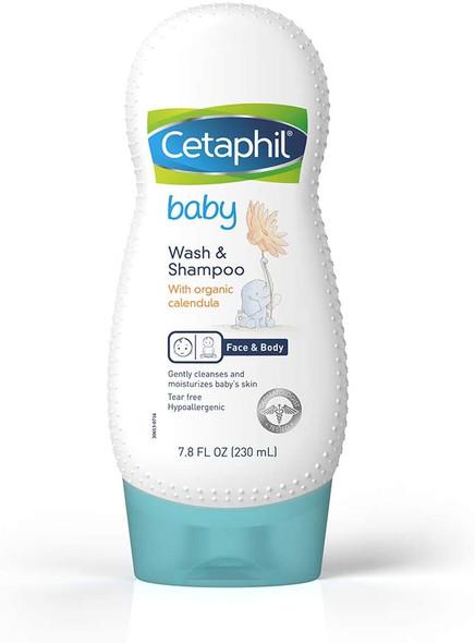 Cetaphil Baby Wash & Shampoo with Organic Calendula, 7.8 Fl Oz