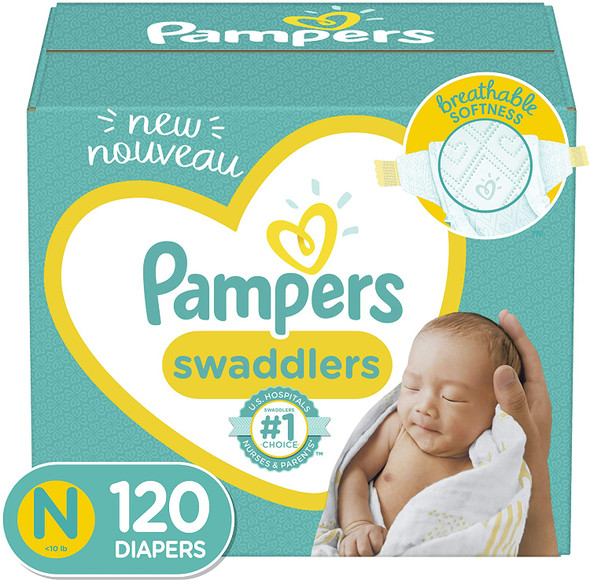 Baby Diapers Newborn/Size 0 (< 10 lb), 120 Count