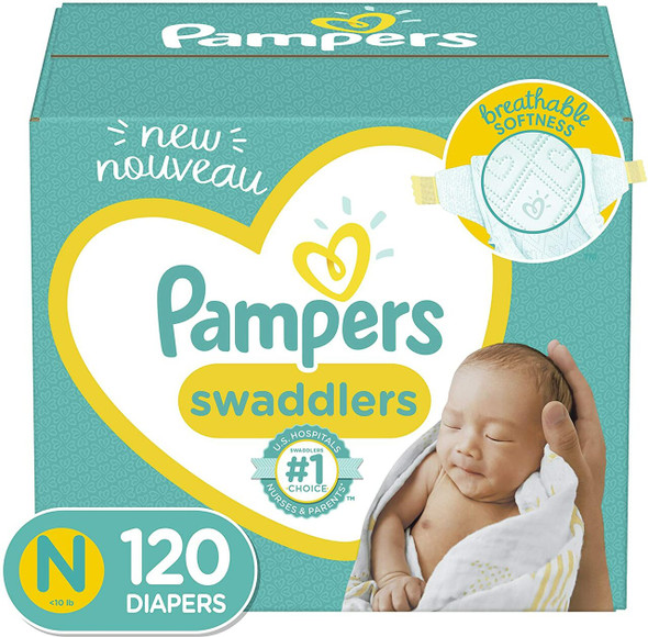 Diapers Newborn/Size 0 (<10 lb), 76 Count - Pampers Pure Protection