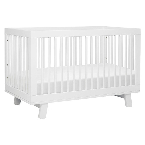 3-in-1 Convertible Crib with Toddler Bed Conversion Kit in White