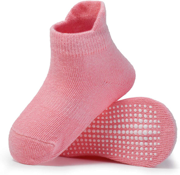Zaples Baby Non Slip Grip Ankle Socks with Non Skid Soles