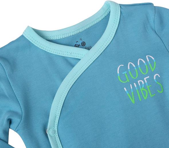Baby Boy's 3-Pack Long-Sleeve Kimono Bodysuit Set -Side Snap