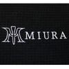Black Miura Golf Towel Logo