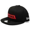 New Era Flat Brim Hat - Black