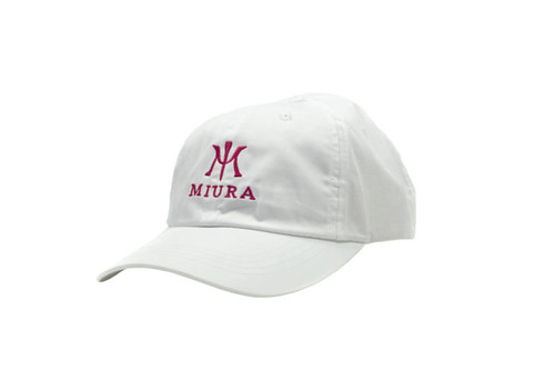 Miura Unstructured Hats White/Pink