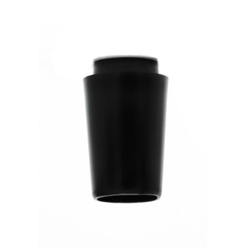 "3/4"" x .370"" parallel tip Collared Ferrule - Black"