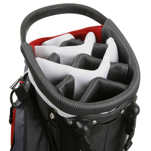 Powerbilt Black & Red TPS Dunes Stand Bag Top