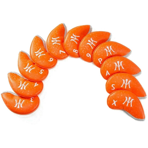 Miura Orange Honey Comb Iron Head Covers
