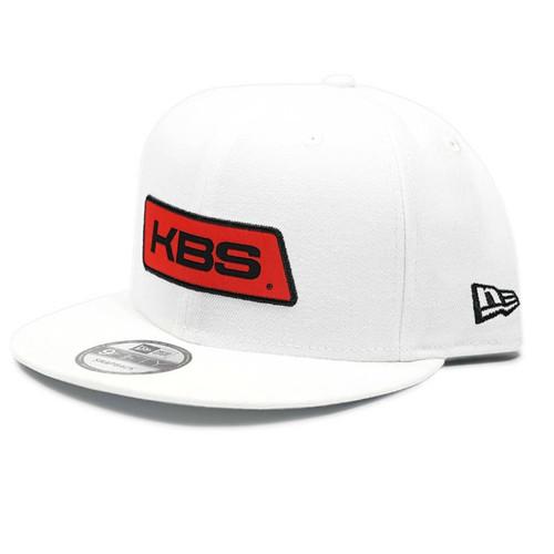New Era Flat Brim Hat - White