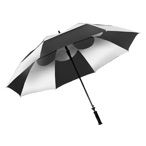 Wind Vent Umbrella - Black/White